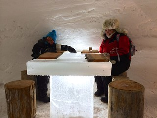 Amélie and Polly in the ice bar