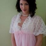 Pink Nylon Chiffon Peignoir Robe Set Vintage 50s Pretty Pi Flickr