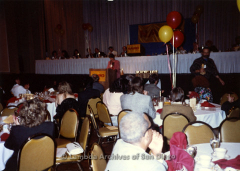 P168.001m.r.t National Association of Independent Record Distribution event: Karen Merry at podium