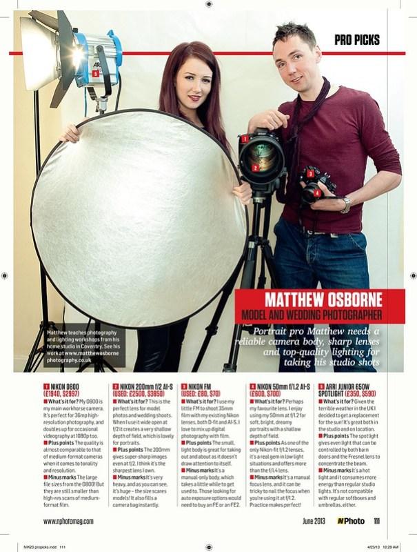 NPhoto Magazine - June 2013 - MatthewOsbornePhotograpy