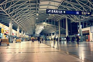 Xinwuri Station in Taiwan Taichung . 臺灣臺中 . 臺鐵新烏日火車站候車大廳 D… | Flickr