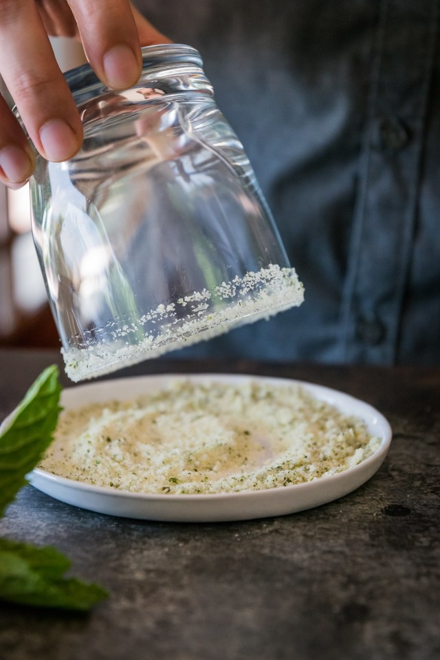 sweet, tangy, and minty