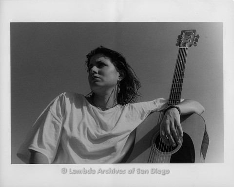 1992 - Photo shoot in Madre Grande: Zanne looking off into the distance.