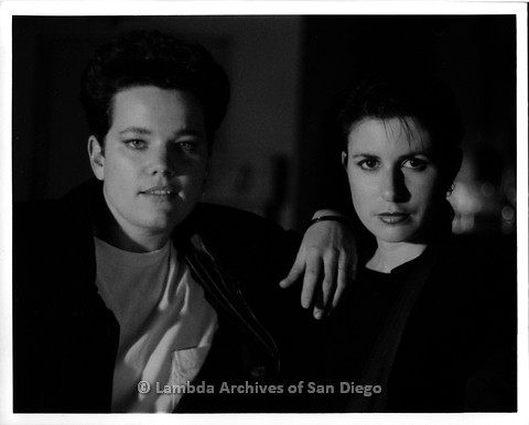 """February 1988 - """"So Many Women"""" Video Shoot: """"Melissa + Me"""" Zanne (right) Standing with Another Woman, Possibly her Manager."""
