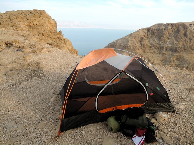 Later the wind really picked up, and I regretted setting up my tent so close to the edge of the cliff by bryandkeith on flickr