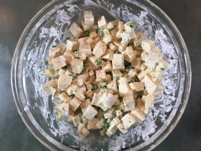 tofu gruyère mixture