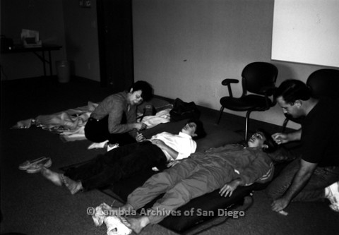 P240.115m.r.t The Center Counseling Offices, Normal Street: People laying on floor with staff crouching over them