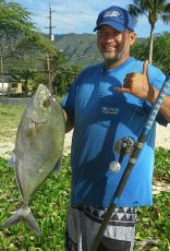 Uluaholics with da 11lb yellow spot ulua.