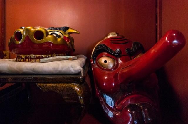 Masks of Tengu and Dragon