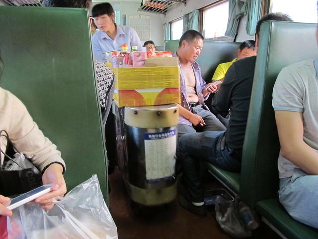 On the train Jinhua to Lishui
