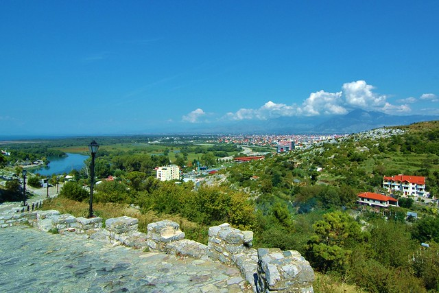 Shkoder, Albania - from the castle drive