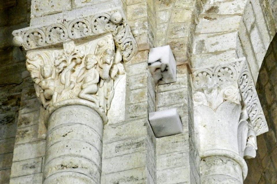 capitel Adan y Eva Iglesia románica de San Martín en Frómista Palencia 11
