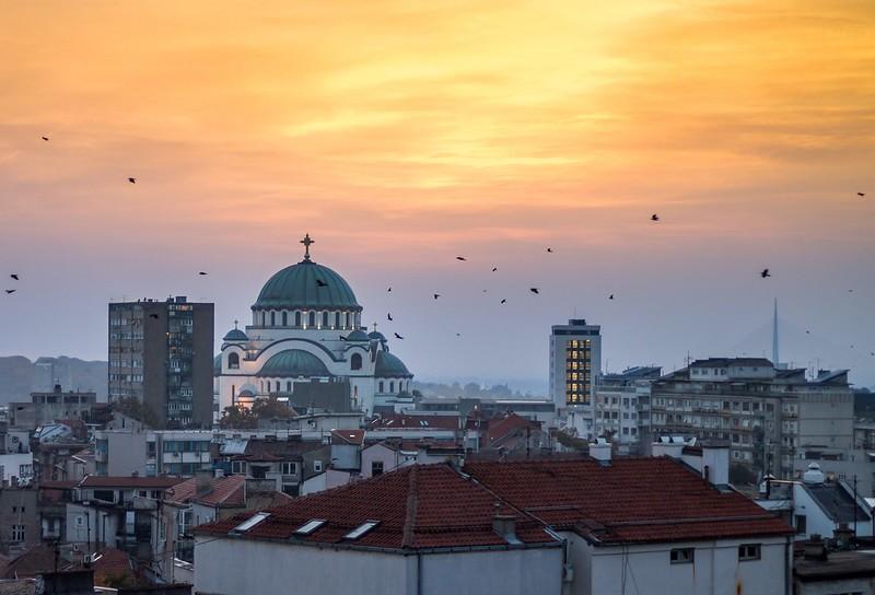 Sunset, Birds & Rooftops