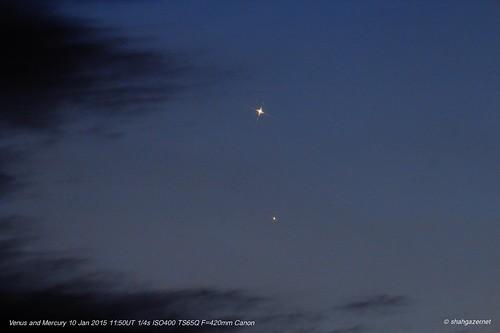 Venus Mercury 10 Jan 2015