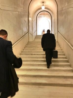 Marble staircase, U.S. Supreme Court