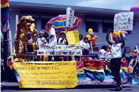 1994 - San Diego LGBT Pride Parade: Contingent - Mom's and Me and Dad's Too.