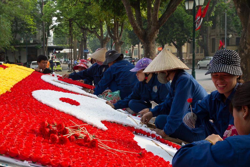 Preparing for the Party - Hanoi, Vietnam.