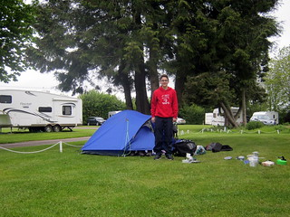 First campsite - the well maintained Morn Hill Caravan Club Site
