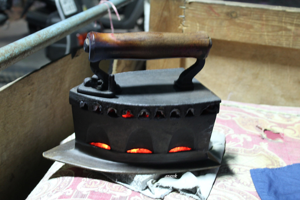 Charcoal Iron Box Istiri A Traditional Way Of Clothes