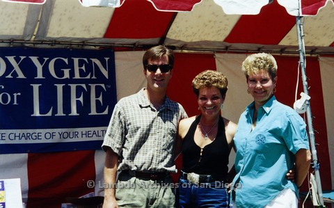 1995 - San Diego LGBT Pride Festival: Oxygen For Life A Holistic Health Business has a Booth at The Festival.