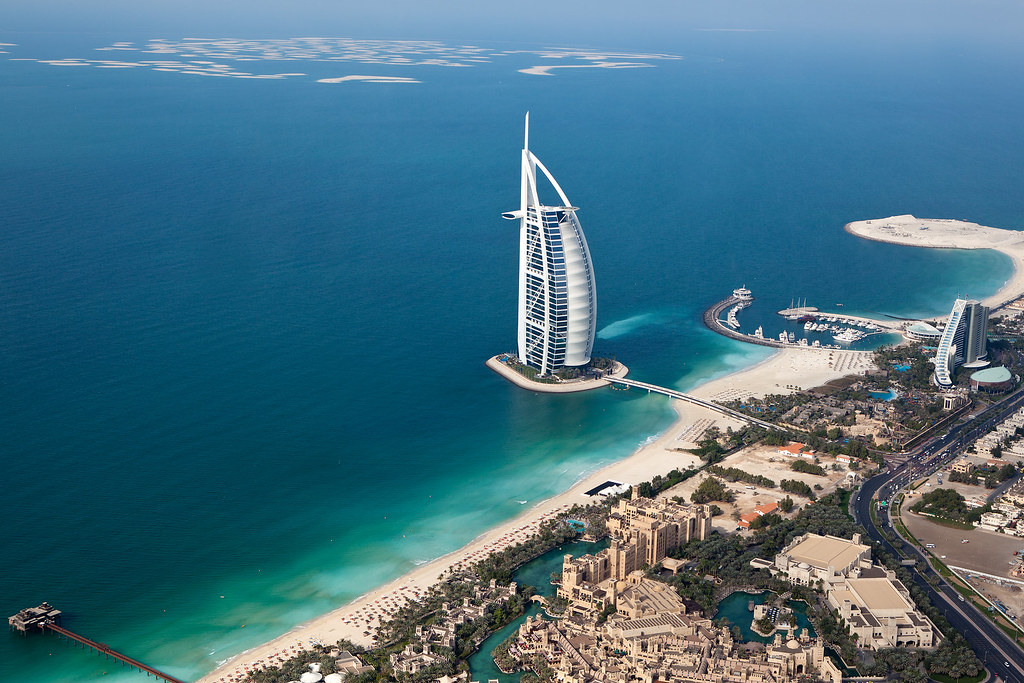 Dubai Burj Al Arab Helicopter View Burj Al Arab Arabi Flickr