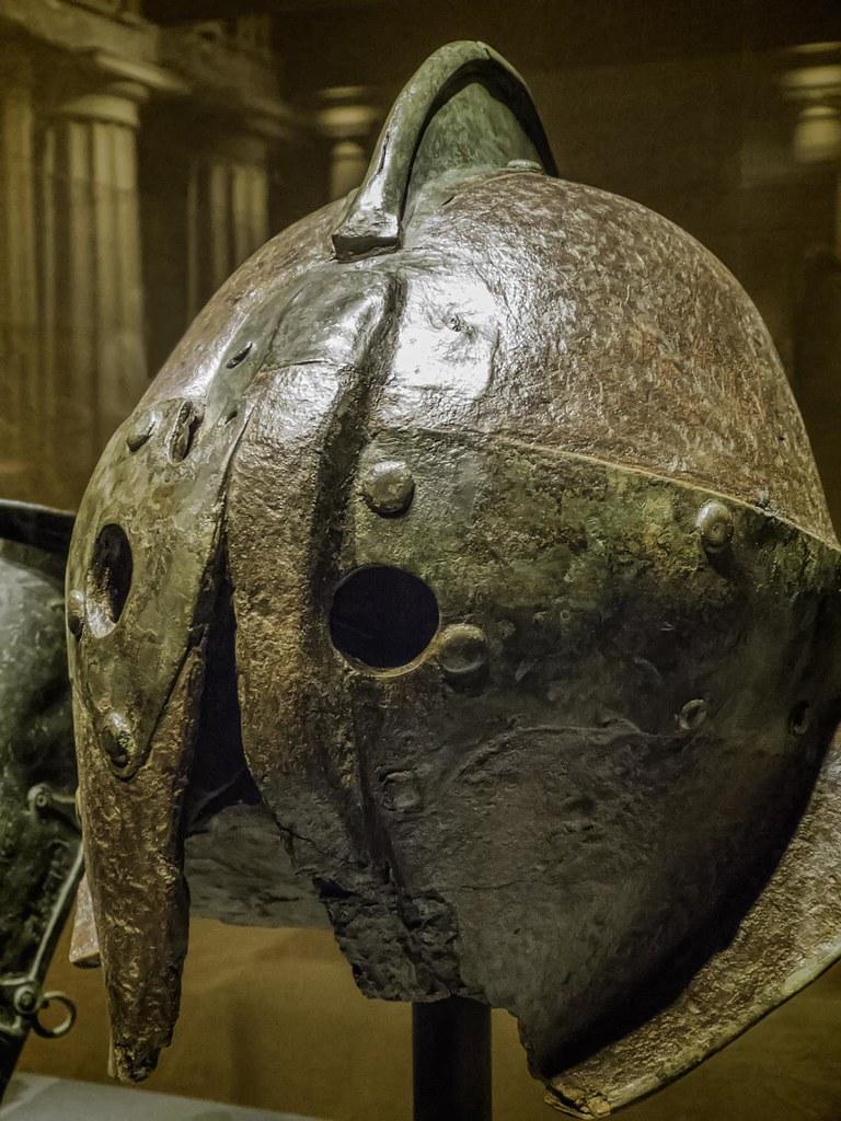 Iron Gladiator Helmet From Herculaneum Roman 1st Century C