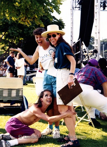1995 - San Diego LGBT Pride Festival: Entertainment Stage Area.