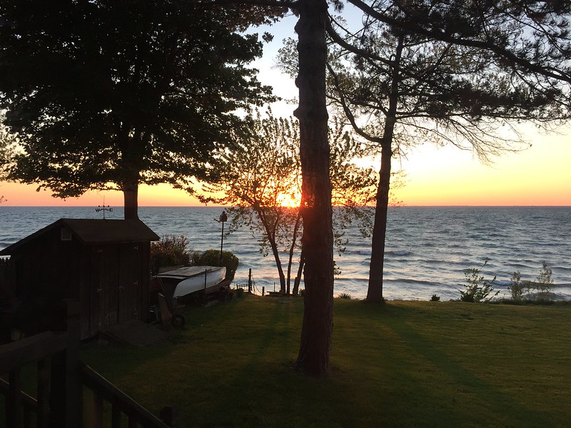 Sunset over Lake Erie from Sharon's Lakehouse