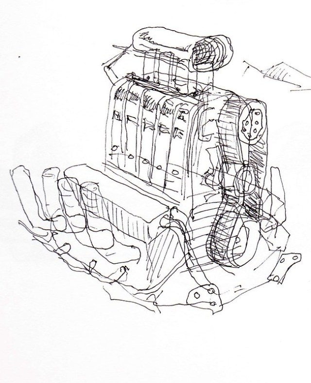 Hot Rod Motor Sketch