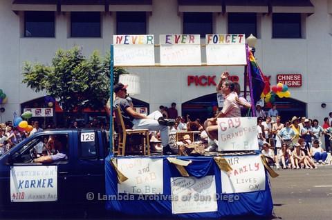1994 - San Diego LGBT Pride Parade: Contingent - Gay Grandpas.