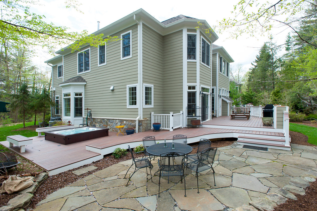 curved deck and patio in bethesda maryland a triple tiere flickr