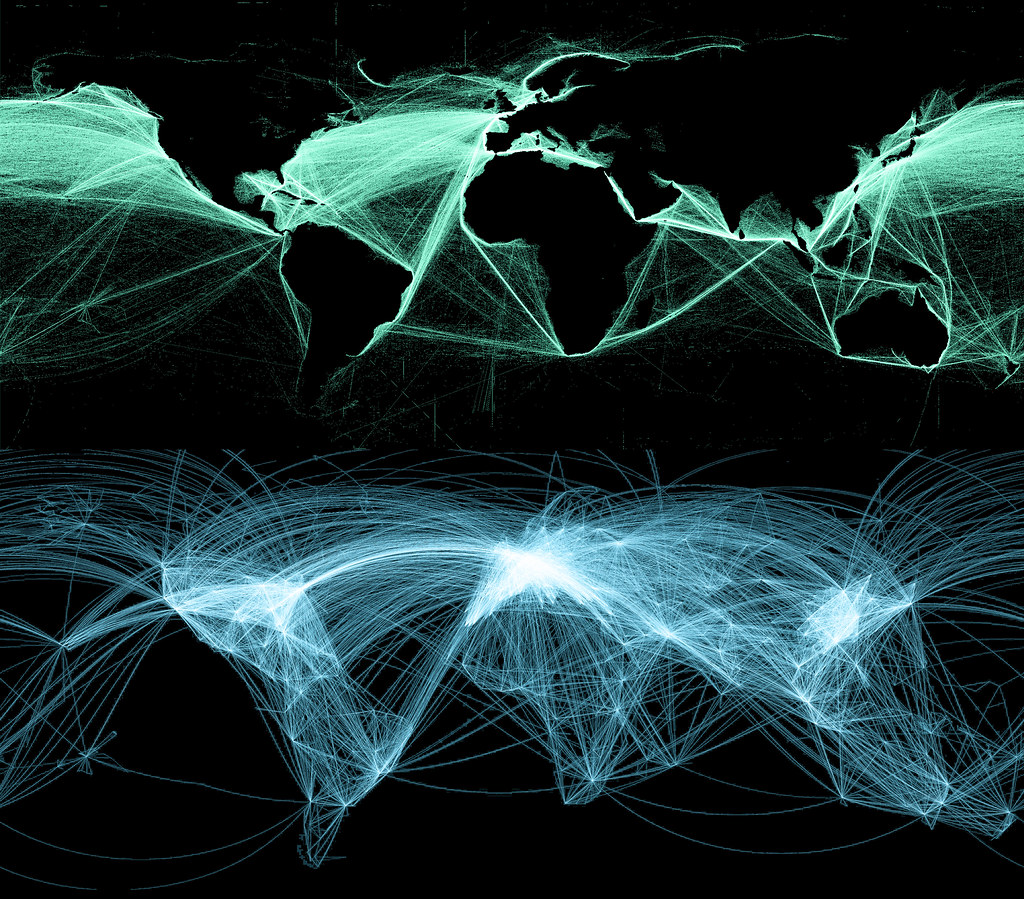 Global Air And Sea Routes