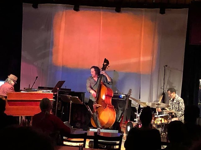 MBS Trio onstage at the Falcon