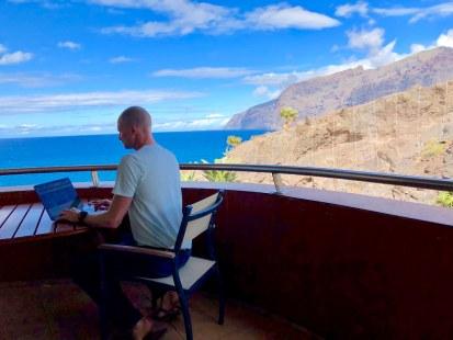 Mobile office on Tenerife