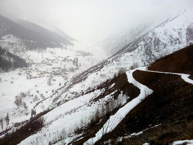 There was just enough snow to ski the (Karamolla) road all the way down to the main (Yaylalar) road. by bryandkeith on flickr