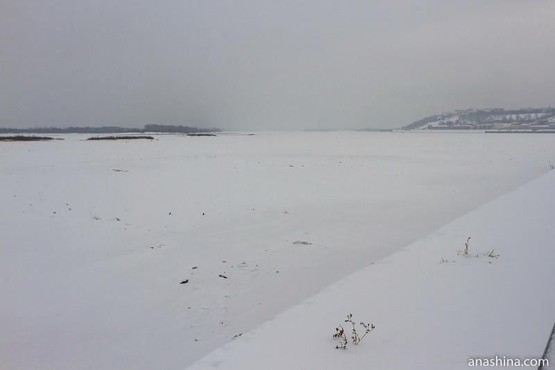 Вид на Волгу со Стрелки, Нижний Новгород
