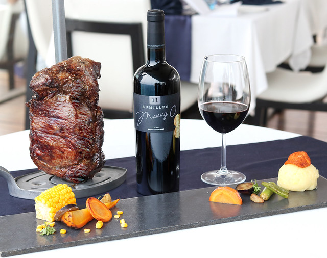 Angus Rib Eye Steak from Ibiza's Balearic-inspired signture 15-course grill