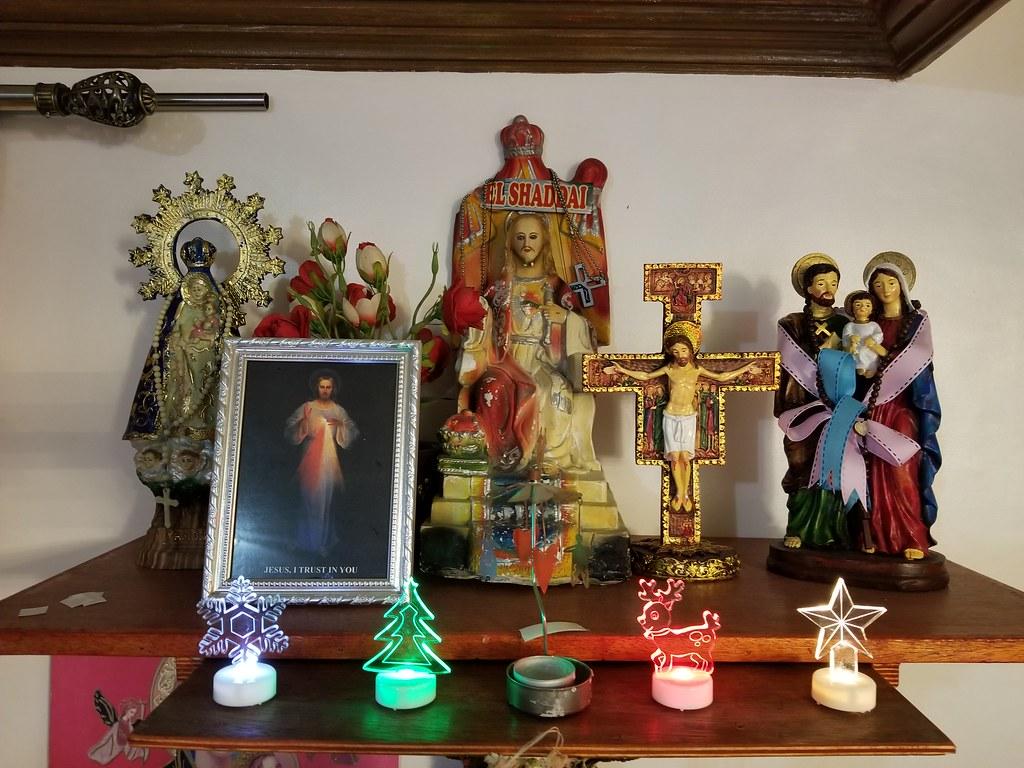 A Catholic Filipino Home Altar A Typical Catholic Altar