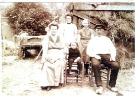 Spijkerboor - Familie Jan Hop - ongeveer 1915