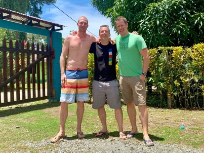 Two Dutch friends visiting us in Costa Rica