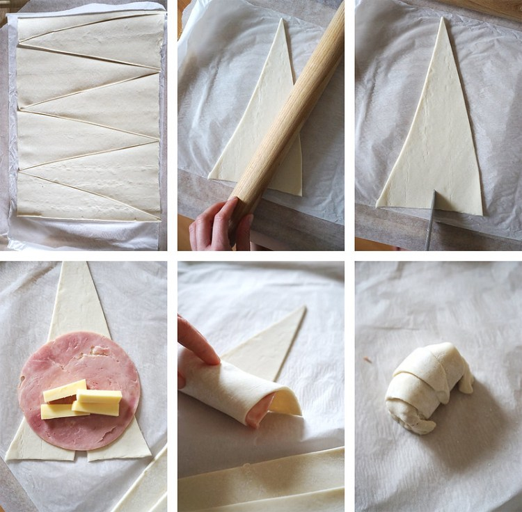 How to make gluten free ham and cheese croissants made with Jus Rol gluten free puff pastry