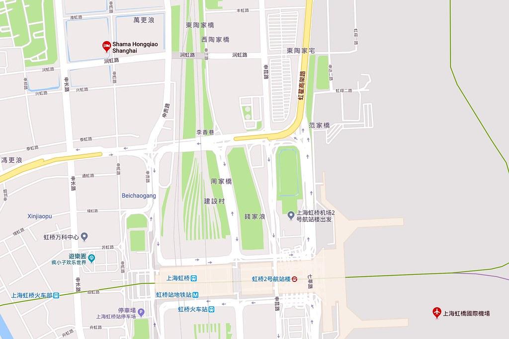 Shama Hongqiao Shanghai Map