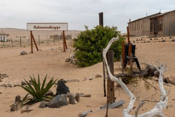 .....die kocht meteen 75 hectare land en zo begon Kolmannskuppe, de grootste trekpleister van Lüderitz.