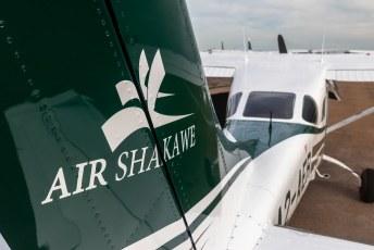 Voor wij Chobe in reden maakten we eerst een vluchtje boven het park om het terrein te verkennen.
