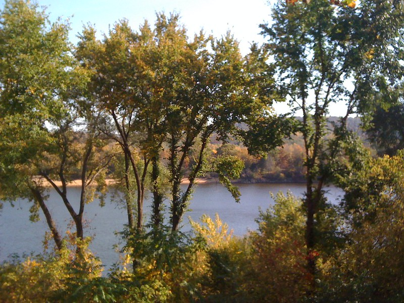 Wisconsin River from Blue Spoon Cafe