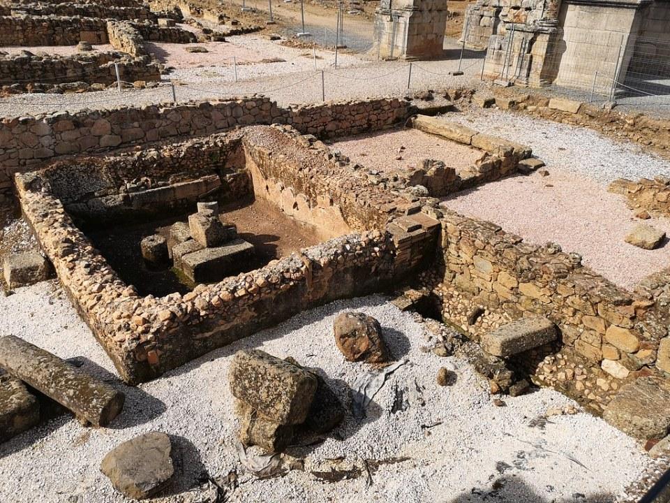 aljibe de las Termas ciudad romana Caparra vía de la Plata Cáceres 03