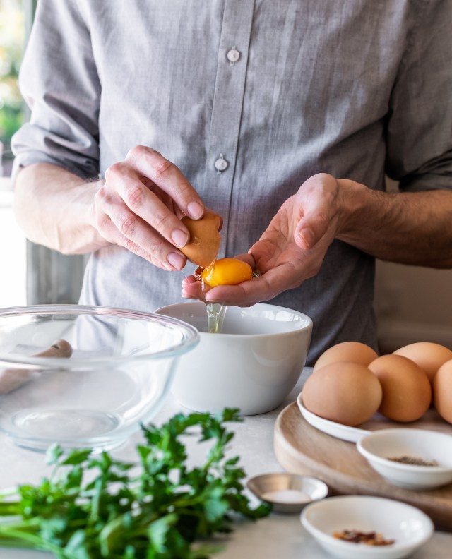 no need for a fancy egg separator--your hands work just fine