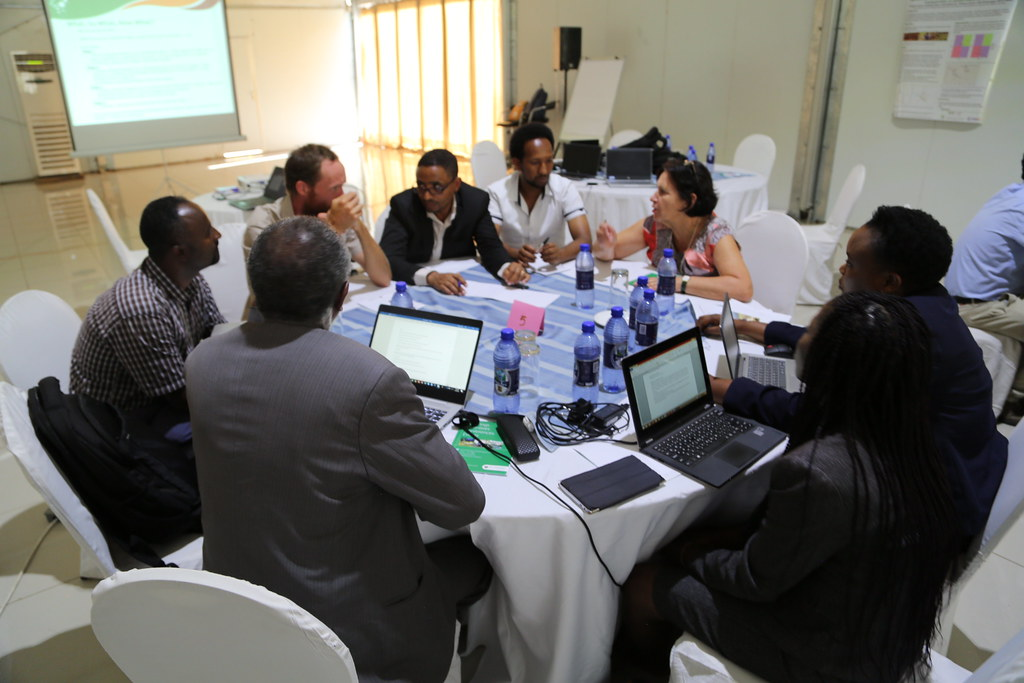 A group discussion in progress during the Africa RISING Program Learning Event held on 5 - 8 February 2019 in Malawi. Photo credit: Simret Yasabu/ILRI.