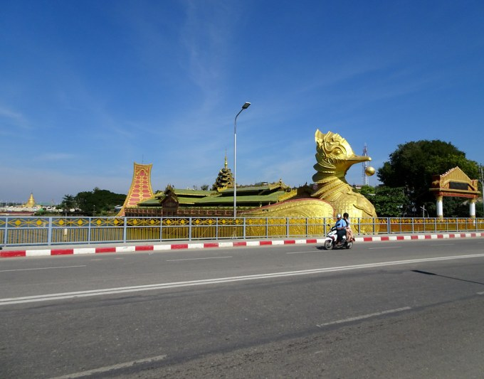 Floating temple in the shape of a duck in Meiktila, Myanma… | Flickr