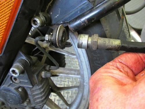 Front Caliper Brake Line Detail